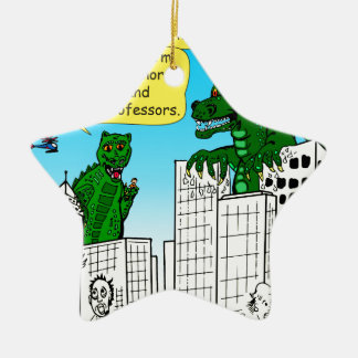 920 Monsters eat honor students for brain food Ceramic Ornament