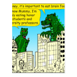 920 Monsters eat honor students for brain food Postcard
