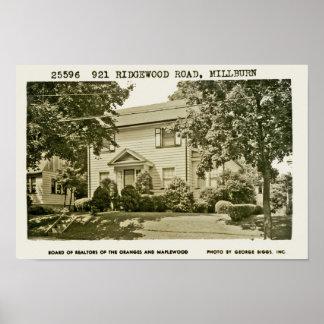 921 Ridgewood Road Ca. 1952 Poster