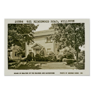 921 Ridgewood Road Ca. 1952 Posters