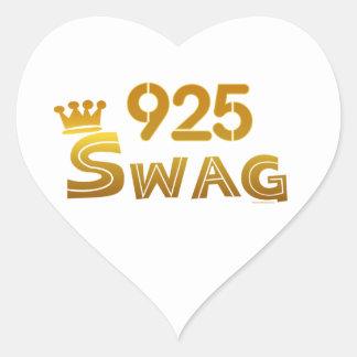 925 California Swag Heart Sticker