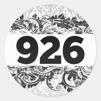 926 PEGATINA REDONDA