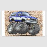 92-96 Blue W Bronco Rectangle Stickers