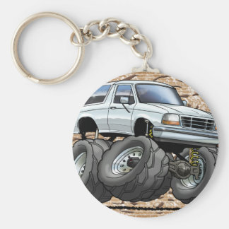92-96 White Bronco Key Chain