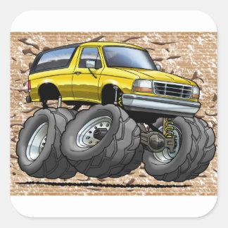 92-96 Yellow Bronco Sticker