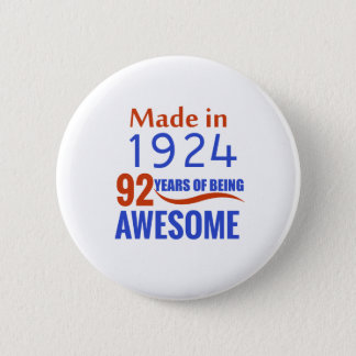 92 birthday design button
