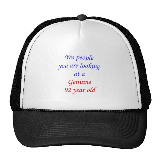 92  Genuine 92 Year Old Hats
