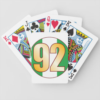 92 NIGERIA Gold Bicycle Playing Cards
