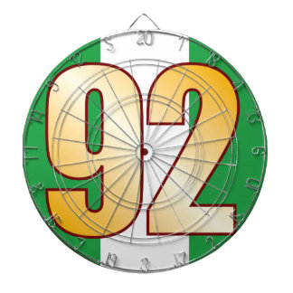 92 NIGERIA Gold Dartboard With Darts