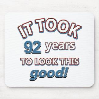 92.os diseños del cumpleaños tapete de ratón