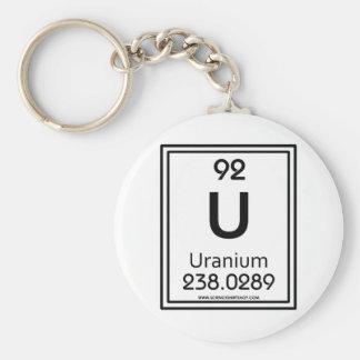 92 Uranium Basic Round Button Keychain