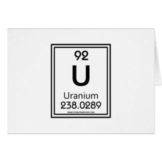 92 Uranium Card