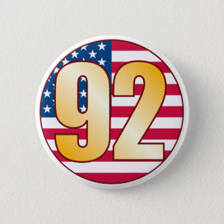 92 USA Gold Pinback Button