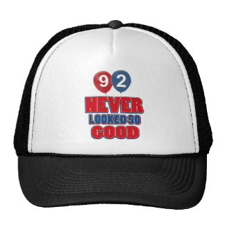 92 year old birthday designs trucker hat