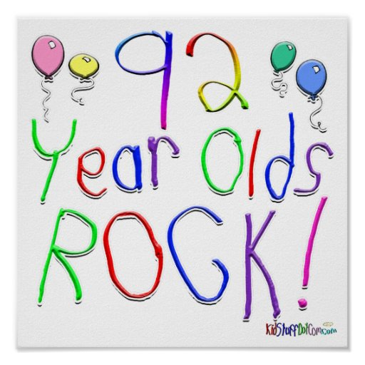 92 Year Olds Rock ! Poster