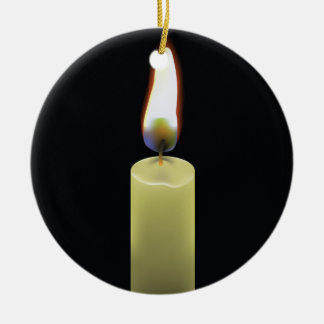 92Candle _rasterized Ceramic Ornament
