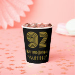 """[ Thumbnail: 92nd Birthday: Art Deco Inspired Look """"92"""" & Name ]"""