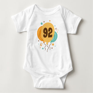 92nd Birthday Party Gift Idea Baby Bodysuit