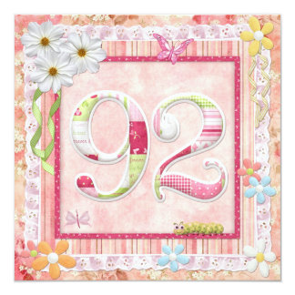 92nd birthday party scrapbooking style card