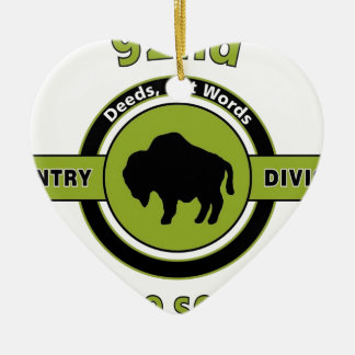 "92ND INFANTRY DIVISION ""BUFFALO SOLDIERS"" CERAMIC ORNAMENT"