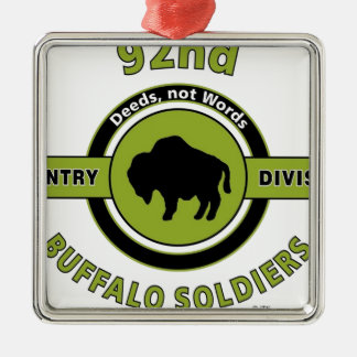 "92ND INFANTRY DIVISION ""BUFFALO SOLDIERS"" METAL ORNAMENT"