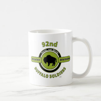 """92ND INFANTRY DIVISION """"BUFFALO SOLDIERS"""" CLASSIC WHITE COFFEE MUG"""
