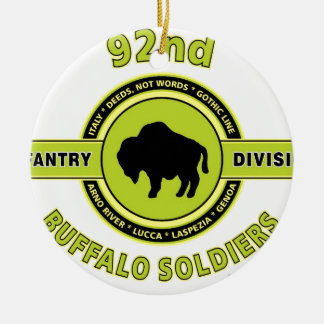 "92nd Infantry Division ""Buffalo Soldiers"" WW II Ceramic Ornament"