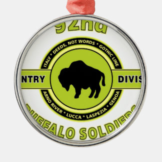 "92nd Infantry Division ""Buffalo Soldiers"" WW II Metal Ornament"