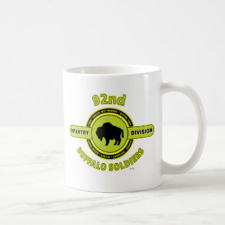 """92nd Infantry Division """"Buffalo Soldiers"""" WW II Classic White Coffee Mug"""