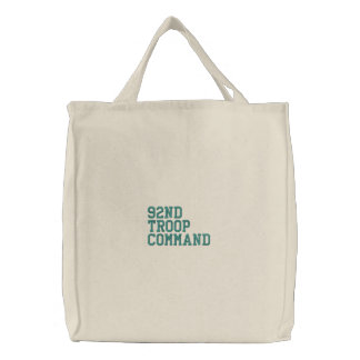 92nd Troop Command Embroidered Tote Bag