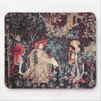 930 The Concert, Tapestry from Arras, 1420 Mouse Pad
