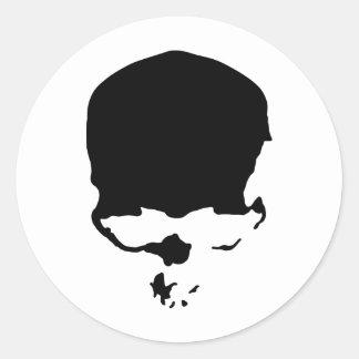 9313032011 Skull (Gothic & Dark) Round Sticker