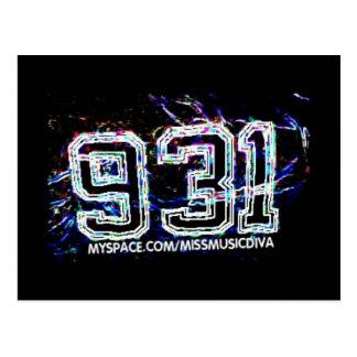 931 AREA CODE  Postcard