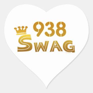 938 Alabama Swag Heart Sticker