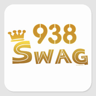 938 Alabama Swag Square Sticker