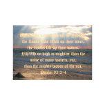 93:3 del salmo - 4 impresión en lona estirada