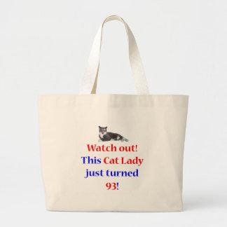 93 Cat Lady Jumbo Tote Bag