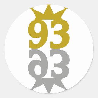 93-Crown-Reflection Etiqueta Redonda