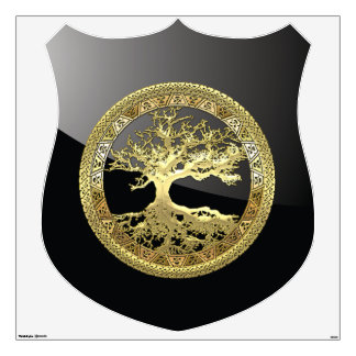 [93] Golden Celtic Tree Of Life [3D] Wall Sticker