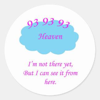 93 Heavenly Classic Round Sticker