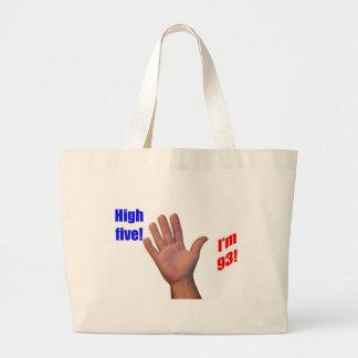 93 High Five! Jumbo Tote Bag