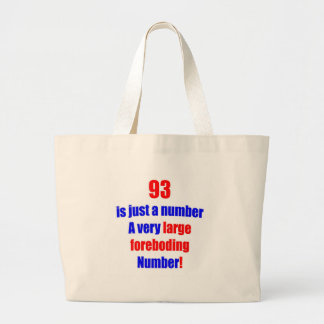 93 Is just a number Jumbo Tote Bag
