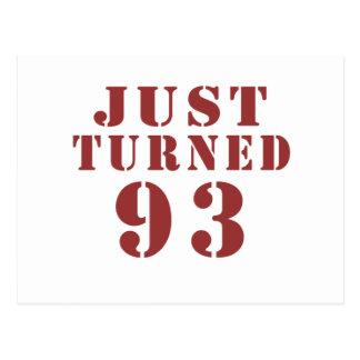 93 Just Turned Birthday Postcard