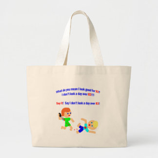 93 Not a day over 83 Jumbo Tote Bag