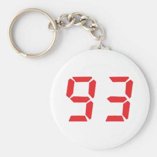 93 noventa y tres números digitales del despertado llaveros