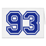 93 - number card