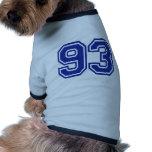 93 - number pet t shirt