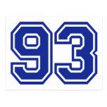 93 - number postcard