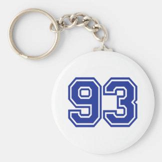 93 - número llavero personalizado