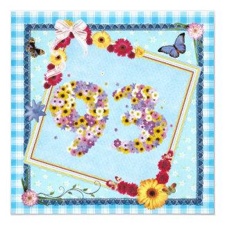 93.o Flores de la invitación de la fiesta de